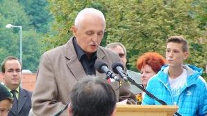 Bachman Zoltán a Bányász emlékhely megnyitóján