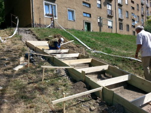 Sok környékbeli használja nap mint nap a lépcsőt