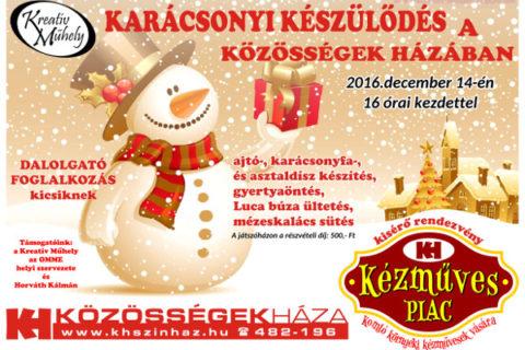 Karácsonyi készülődés a Közösségek Házában