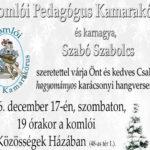 Karácsonyi hangverseny a Közösségek Házában
