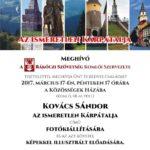 Az ismeretlen Kárpátalja – Kovács Sándor kiállítása a Rákóczi Szövetség szervezésében