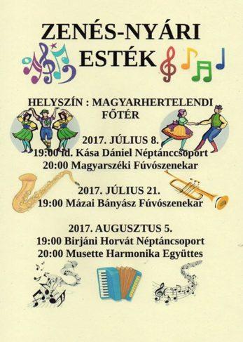 Zenés nyári esték – Magyarhertelenden