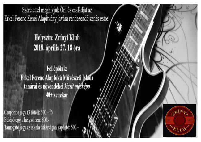 Zenés est az Erkel Ferenc Zenei Alapítvány  javára