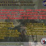 A területvédelmi századok feltöltése érdekében a Magyar Honvédség toborzást indított