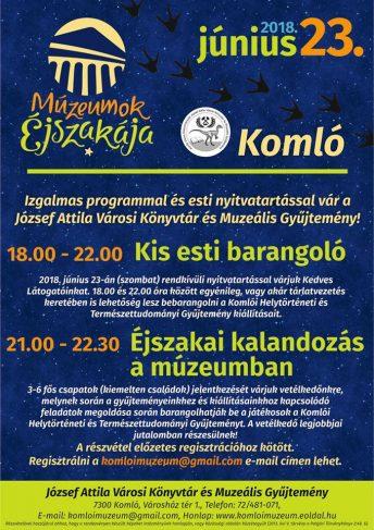 Múzeumok Éjszakája Komlón is