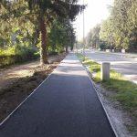 Halad a kerékpárút aszfaltozása