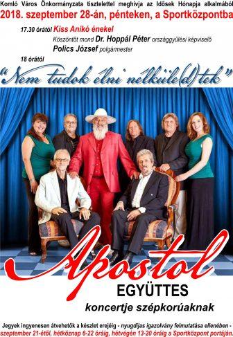 Programajánló – Apostol együttes koncertje szépkorúaknak