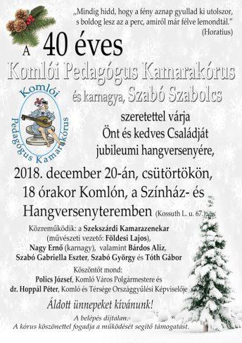 Komló Pedagógus Kamarakórus jubileumi hangversenye