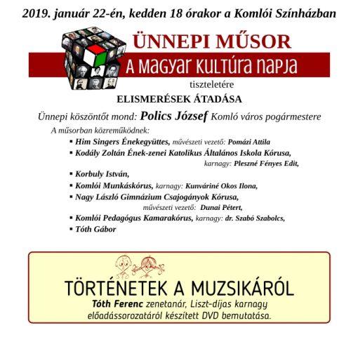 A Magyar Kultúra Napja – programajánló
