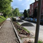 Járdaépítés az Eötvös utcában