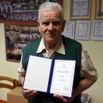 Komlói polgárőrvezető elismerése