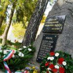 Koszorúzási ünnepség az '56-os emlékkőnél